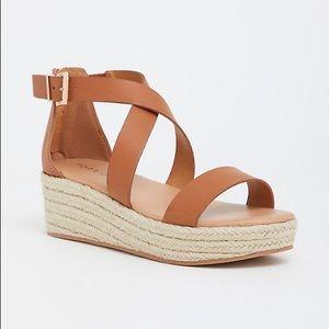 Torrid Tan Platform Sandals
